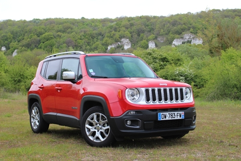 Le Jeep Renegade avant restylage.