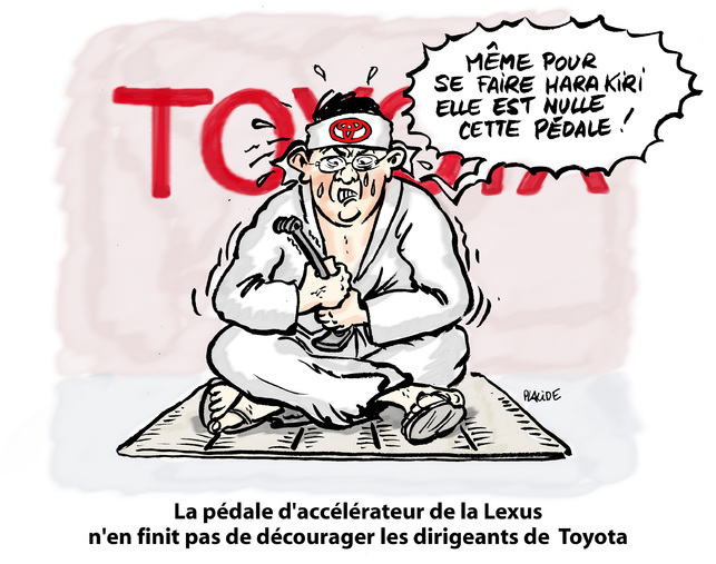 Le dessin du jour - Placide harakirise Toyota