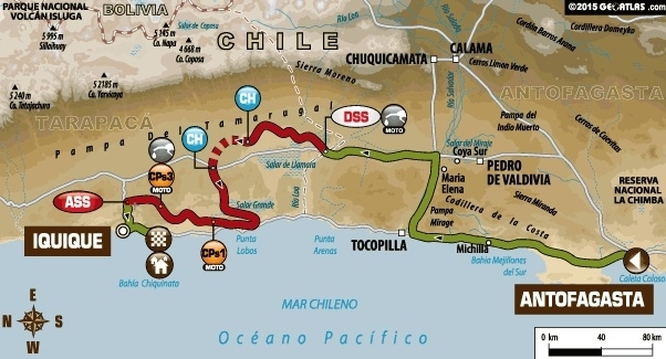 Dakar 2015 - Etape 5 : Barreda patiente et Coma s'impose