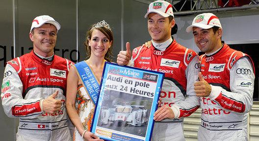 24 Heures du Mans - La pole pour l'Audi n°1, Toyota 3ème!