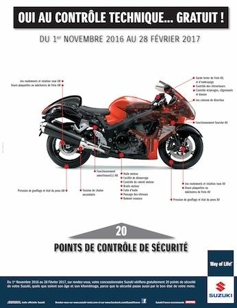 Suzuki: check-up gratos sur 20 points de contrôle