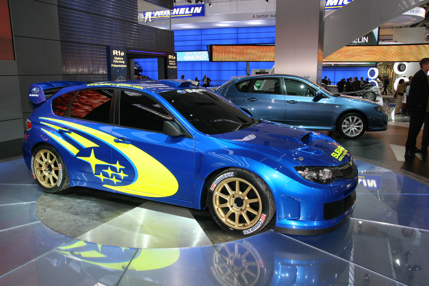 en direct de francfort la subaru wrc concept face l 39 impreza. Black Bedroom Furniture Sets. Home Design Ideas
