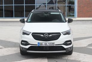 La face avant est typiquement Opel, avec grande calandre et signature lumineuse à ailes doubles. Le blanc va bien à ce Grandland X.