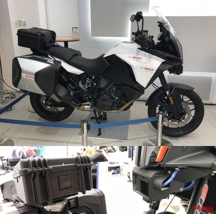 Nouveauté: les motos de demain avec des caméras ça donne ça