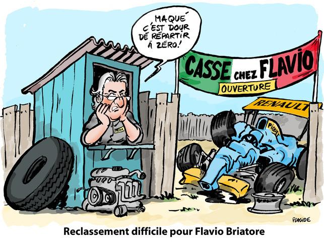Le dessin du jour par Placide : le triste destin de Flavio Briatore