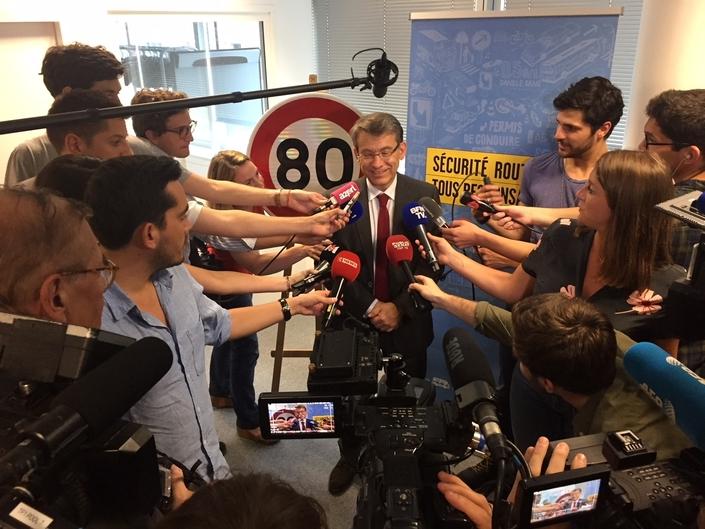 """Depuis janvier, le délégué interministériel à la sécurité routière Emmanuel Barbe a mulitplié les déplacements en France pour """"vendre"""" les 80 km/h."""
