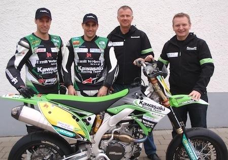 Supermotard 2012: Kawasaki s'engage au Championnat du Monde avec un team suisse