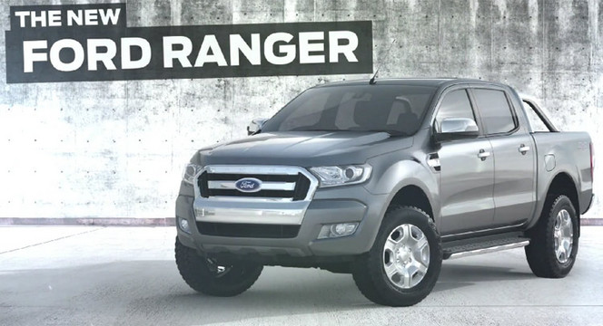le ford ranger restyl s 39 chappe sur la toile. Black Bedroom Furniture Sets. Home Design Ideas
