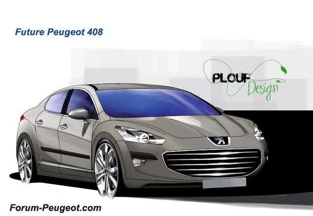 Future Peugeot 408 : première prise et sans camouflage !