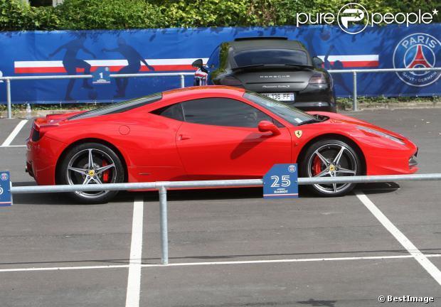 La Ferrari 458 Italia d'Edinson Cavani, attaquant du PSG