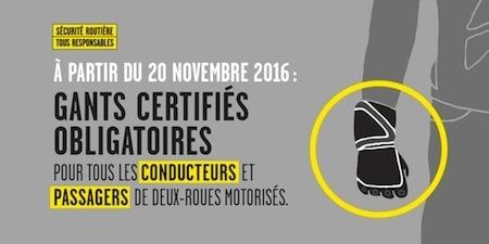 Dossier équipement: les gants, c'est obligatoire dès le 20 novembre 2016