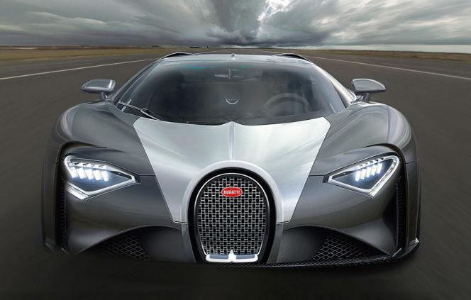 Future Bugatti Chiron : comme ça ?
