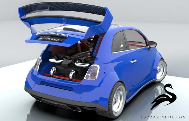 Le délire du week-end: Lazzarini Design Studio 550 Italia, une Fiat 500 à V8 Ferrari!