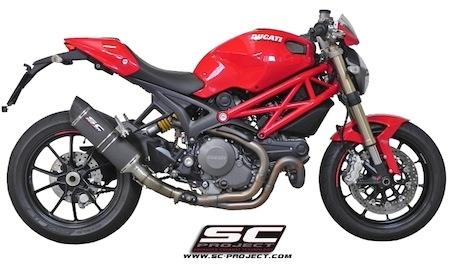 SC Project: silencieux pour Ducati Monster 1100 Evo (vidéo)