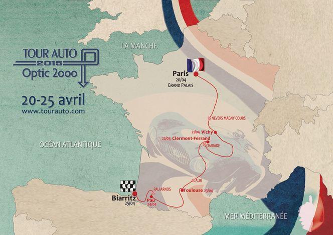 Tour Auto 2015 : voici le parcours