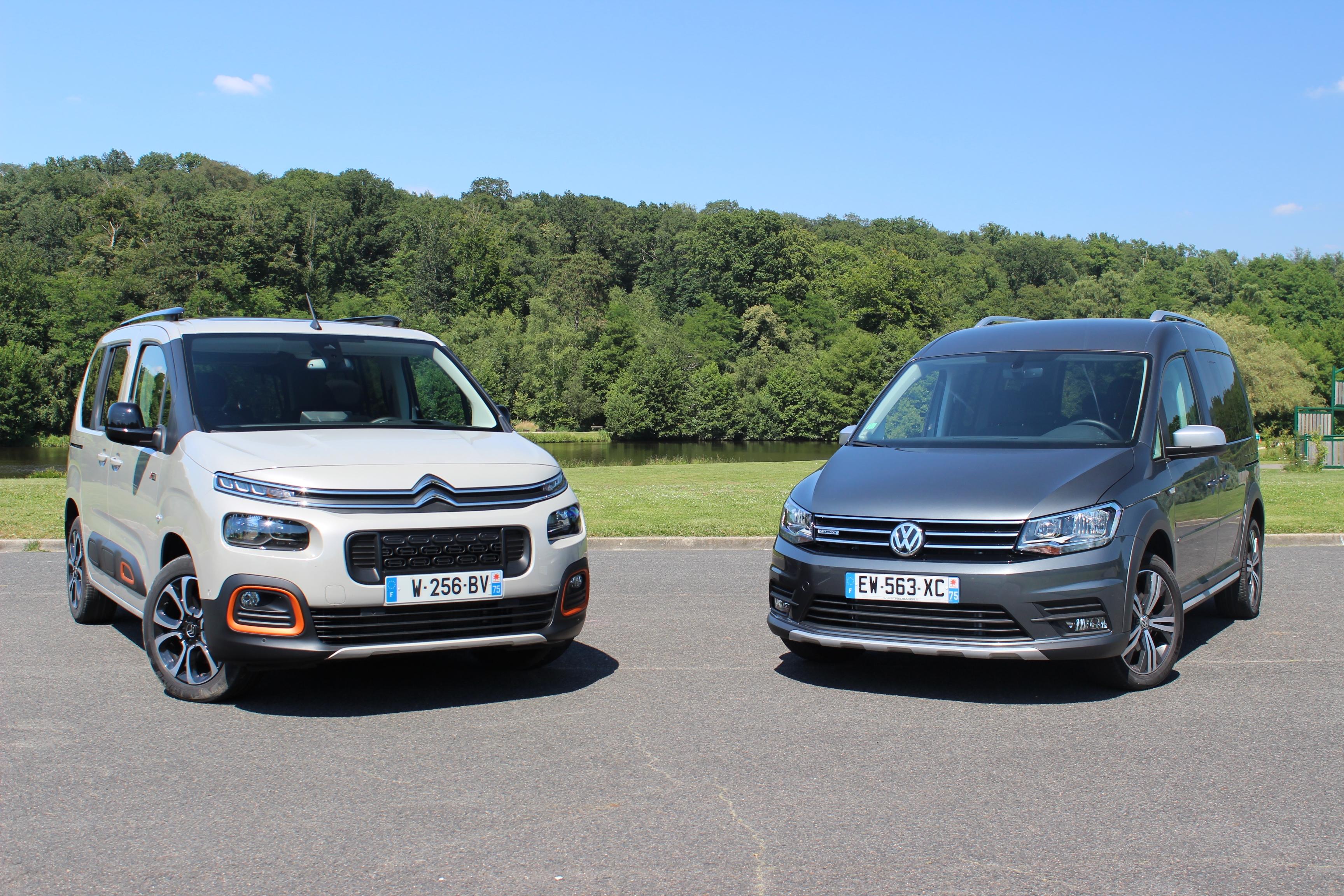 Comparatif vidéo : Citroën Berlingo vs Volkswagen Caddy ...