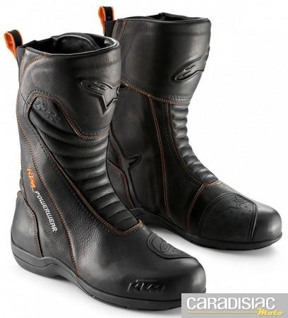 Des Alpinestars aux couleurs KTM pour le touring : les Tech Touring Boot.