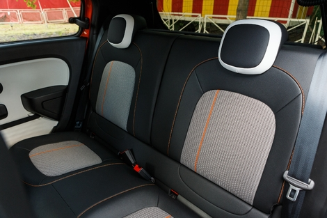 The Renault trunk is smaller (219 liters) but the rear seats are wider.