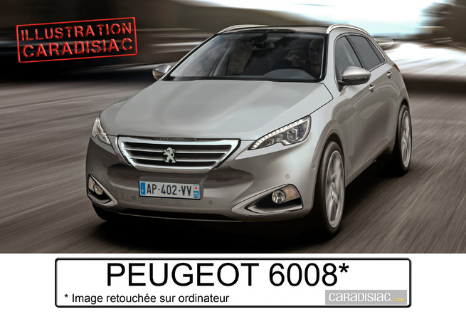 Peugeot veut son grand crossover le 6008 for Peugeot 6008 interieur