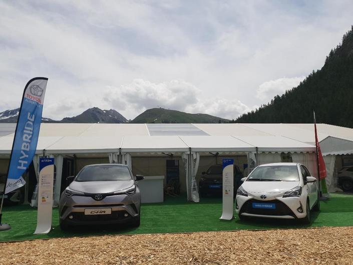 Le stand Toyota - Vidéo en direct du Salon de Val d'Isère 2018
