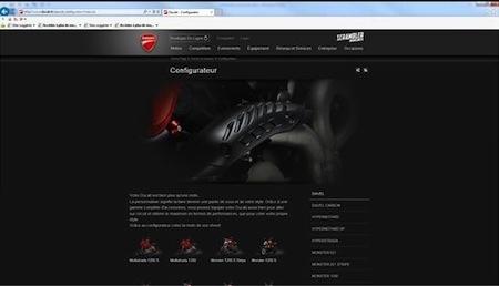 Configurateur Ducati: réalisez votre machine comme vous voulez
