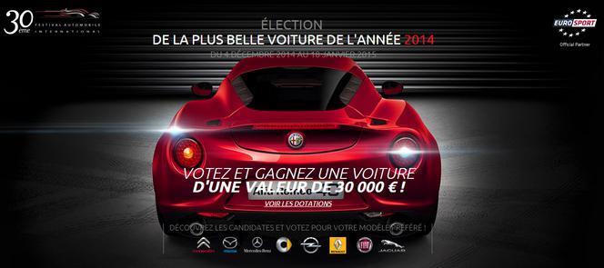 Plus belle voiture de l'année 2014 : les votes sont ouverts