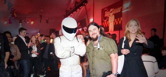 Salon des jeux vidéos à LA : le Stig avec Caradisiac