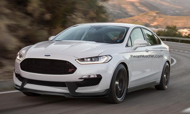 La Ford Mondeo ST imaginée ici ressemble encore plus à la Mustang