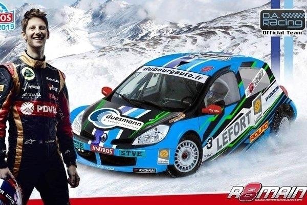 Romain Grosjean sur la manche de l'Alpe d'Huez du Trophée Andros
