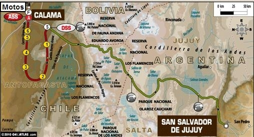 """Dakar 2011 : 4ème étape, en route pour le Chili et un bivouac """"haut"""" en couleur"""