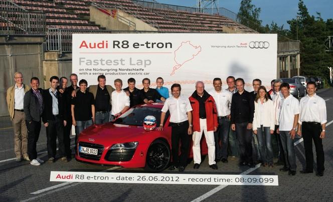 Electric Ring Folies : l'Audi R8 e-Tron en 8'09''099