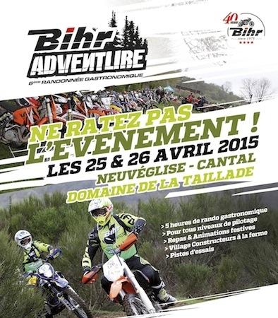 Bihr Adventure: seconde édition les 25 et 26 avril 2015