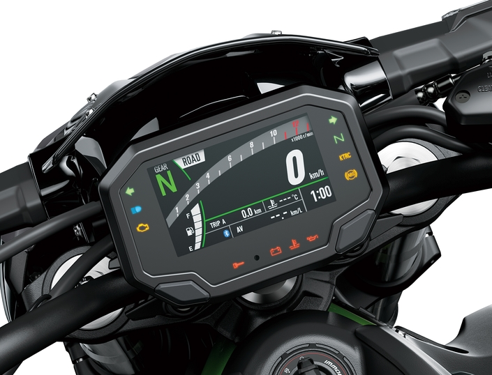 L'écran multifonction couleur, une vraie nouveauté pour la Z900 2020.