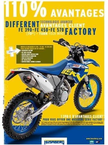 Husaberg : série limitée 4-temps FE Factory 2011