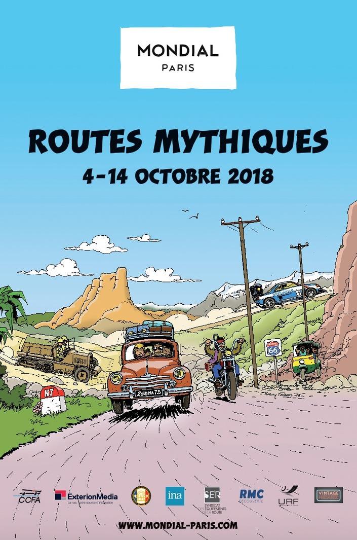 """Mondial de l'automobile 2018 : exposition """"routes mythiques"""""""