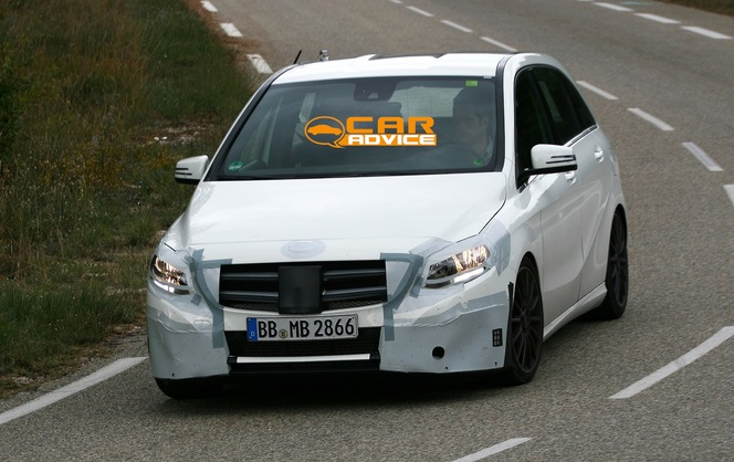 Surprise : le restyling de la Mercedes Classe B ou future B45AMG ?