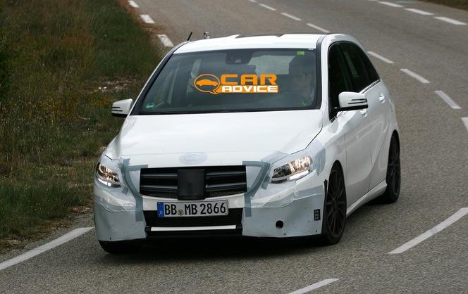 Surprise : le restyling de la Mercedes Classe B ou future B45AMG ?