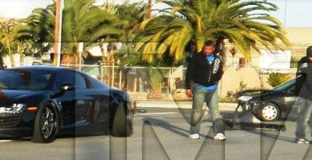 Quinton Rampage Jackson et son Audi R8 : esbroufe, arsouille et crash (photos + vidéos)