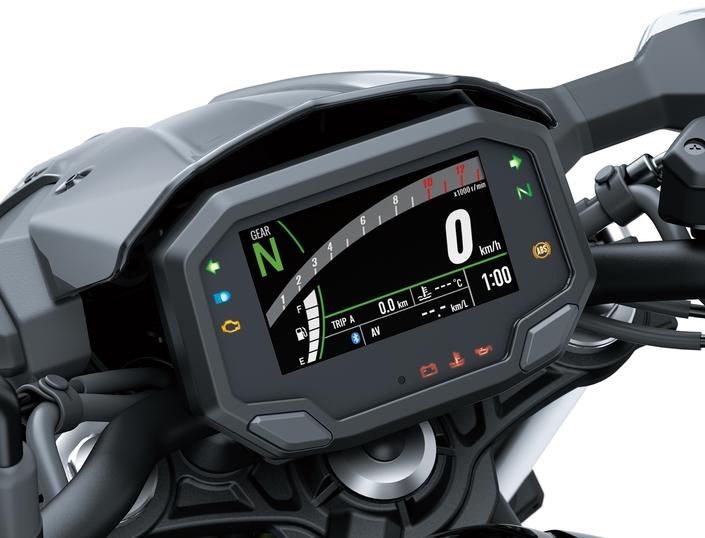 Un écran TFT couleur multifonction pour la Z650 2020.
