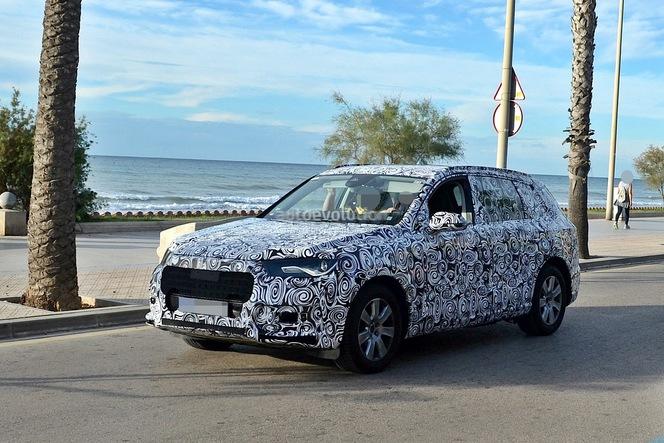 Surprise : le futur Audi Q7 en bord de mer