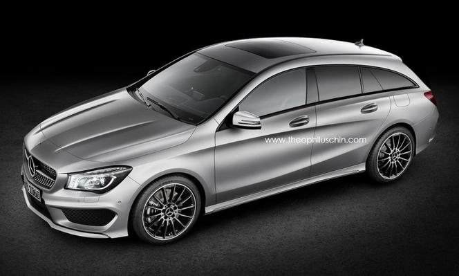un futur mercedes cla shooting brake l 39 tude le sla remis. Black Bedroom Furniture Sets. Home Design Ideas