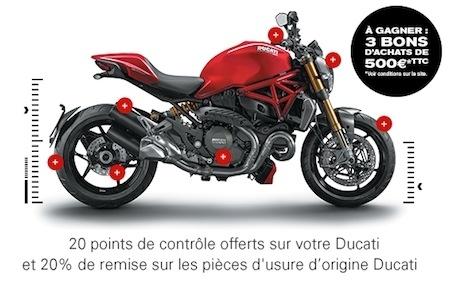 Ducati contrôle gratuitement 20 points de sécurité
