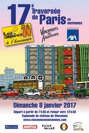 17ème traversée de Paris en anciennes, 700 véhicules ce dimanche 8 janvier...