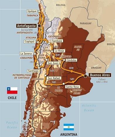 Dakar 2010 : le parcours étape par étape