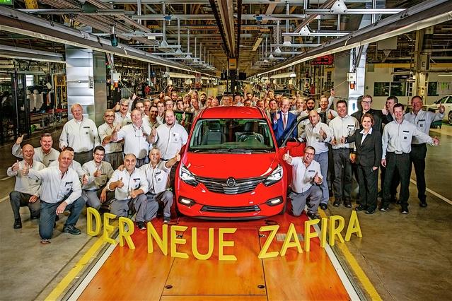 Opel Zafira restylé : les premiers exemplaires sortent des chaînes