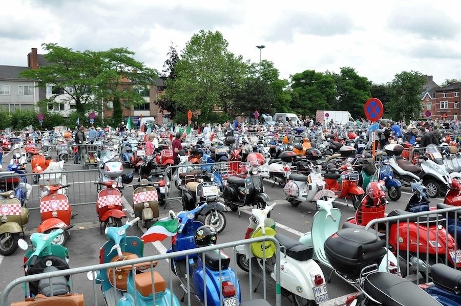 Vespa World Days 2012 :  la Belgique en guise d'arrivée
