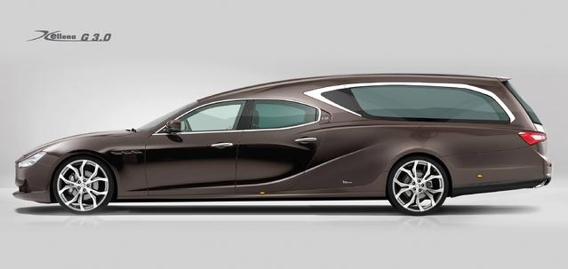 Insolite : le premier corbillard Maserati Ghibli