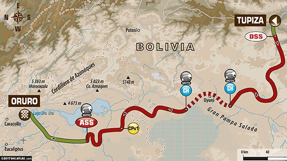 Dakar 2017 - étape 5 : Sam Sunderland avant la pluie