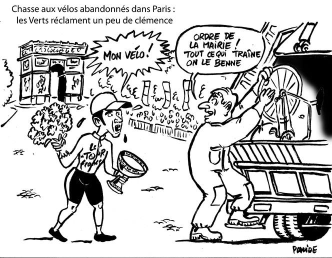 Le dessin du jour –  Vélo à Paris  : restez en selle !