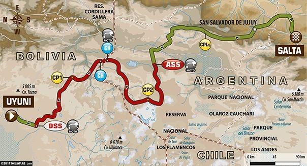 Dakar 2017 - étape 8 : le parcours du jour